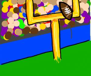 an American football field goal