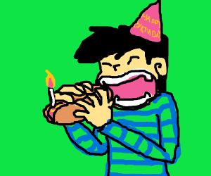 Eating a dog for your birthday