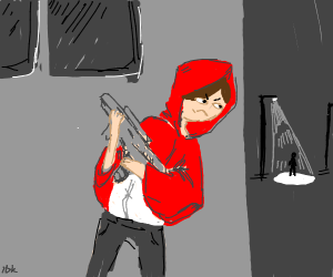 Little Red Riding hood but action movie