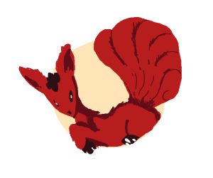 Black and Red Vulpix