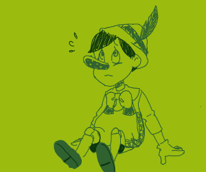 oh no pinocchio what happened to ur face???