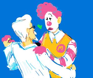 Colonel Sanders and RONALD MCDONALD dancing