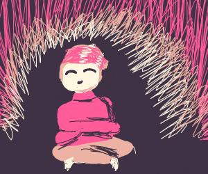 Cute guy in pink sweater