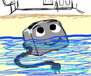 Brave Little Toaster taking a bath