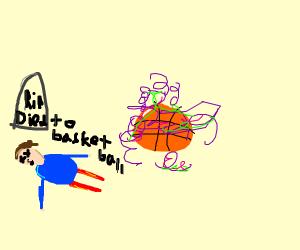 a basket ball emiting death fumes