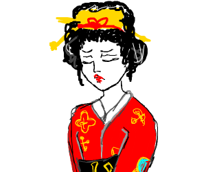 sad japanese lady
