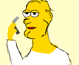 the Simpsons shave