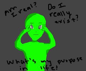 Alien in midst of midlife crisis