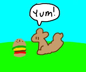 squirrel eating something