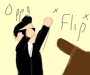 psy flipping a table