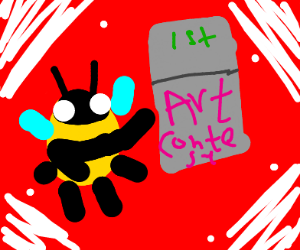 a bee wins an art contest
