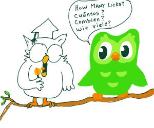 Owl askin howmanylicksinspanishtillugettomid