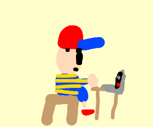 Ness (Earthbound) plays Undertale