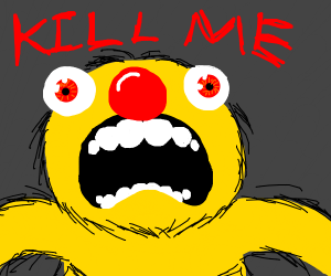 Yellmo (or Elmo I don't know) wants to die