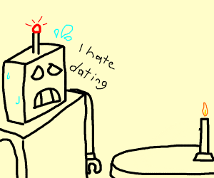 A nervous robot on its first date