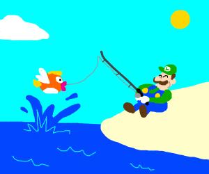 chubby louigi fishing
