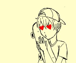anime boy has feelings for skateboard