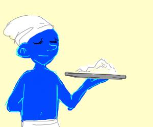 smurf provides plate of... flour?