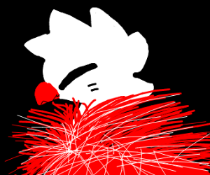A fluffy red ostrich