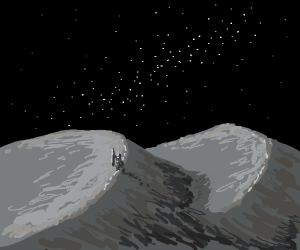 Nighttime quest through the dusty desert.