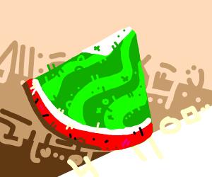 Reverse watermelon slice