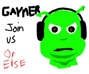 Join the gamer shrek society today!