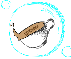Teacup in a bubble