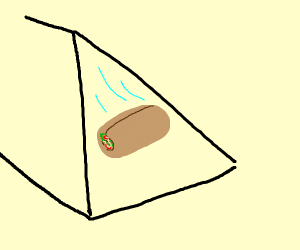 Thicc burrito rolling down a triangular prism
