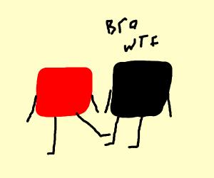 Red box kicks black box