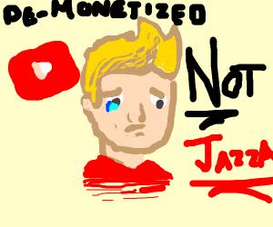 Youtube artist is sad
