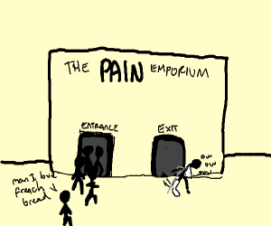 french bread store, but with pain as in hurt