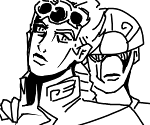 Giorno and Gold experience