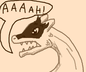 Screaming baby dragon