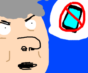 Old man hates phones