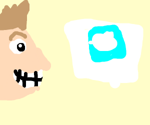 Jazza looks at his twitter on a whiteboard