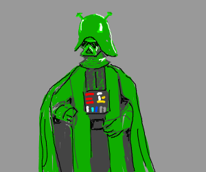 darth vader as shrek
