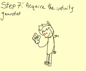 Step 7: acquire the infinity gauntlet