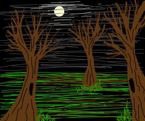 Dark, scary forest