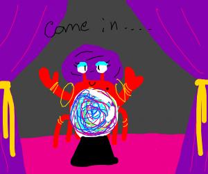 Fortune telling crab