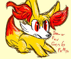 Draw your favorite gen 6 Pokémon