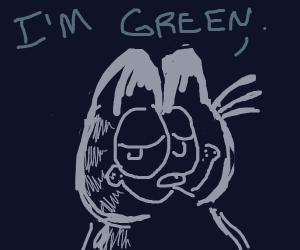 white garfield identifies as green
