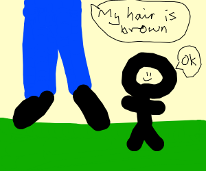 A giant with brown hair