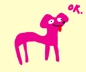 Draw a dog (if you want) or something