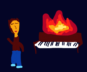 Liberace's Piano is on fire