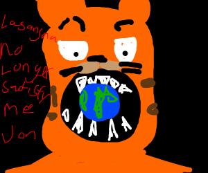 Garfield Eats Planet Earth