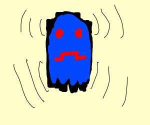 Vibrating Pac-Man ghost