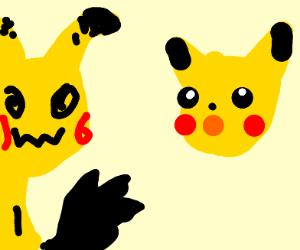 Pikachu meets mimikyu