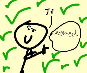 JR approves