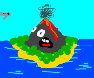 cowardly volcano