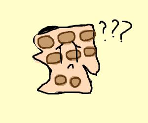confused weirdly shaped waffle